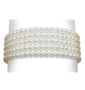 3 x 3.5 mm Cultured Pearl 5 Strand Bracelet - $525