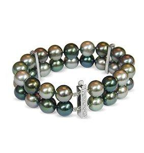 Themis Black Tahitian Double Strand Pearl Bracelet