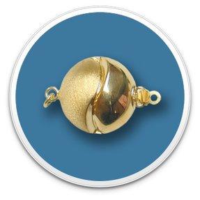 14K Yellow Gold Yin Yang Clasp
