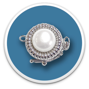 14K White Gold Single Pearl Clasp