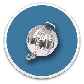 10mm Diamond Ball Stripe Clasp