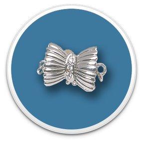 White Gold Diamond Bow Clasp