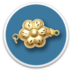 14K Yellow Golden Flower Clasp