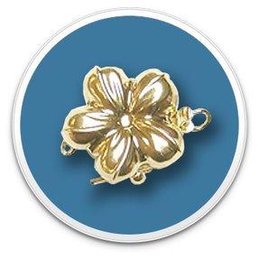 14K Yellow Gold Golden Flower Clasp