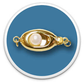 14K Yellow Gold Nested Pearl Clasp