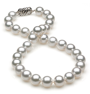 11 x1 2mm White Round South Sea Pearl Necklace
