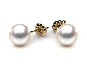 Pearl Earring 8mm AAA Quality Japanese Akoya Cultured Pearl Stud Earrings