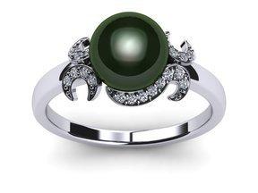 Tahitian Pearl Ring Crest