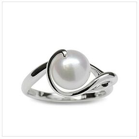 Shirley a Japanese Akoya Cultured Pearl Ring