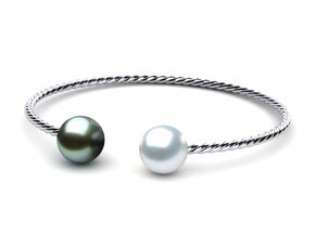 South Sea Pearl Twisted Bangle Bracelet