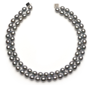 10 to 11.5 Double Strand Silver Choker