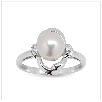 Prudence a Japanese Akoya Cultured Pearl Ring