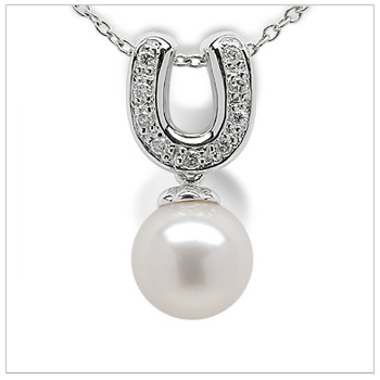 Lucky a Japanese Akoya Cultured Pearl Pendant