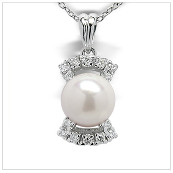 Pandora a Japanese Akoya Cultured Pearl Pendant