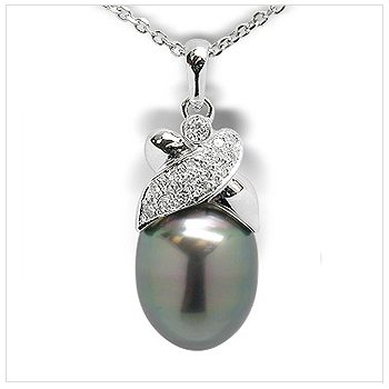 Jezebel a Black Tahitian South Sea Cultured Pearl Pendant