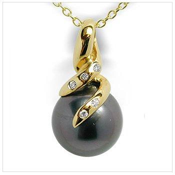 Orabella a Black Tahitian Cultured Pearl Pendant