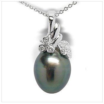 Diza a Black Tahitian Cultured Pearl Pendant