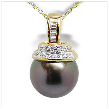 Dion a Black Tahitian Cultured Pearl Pendant