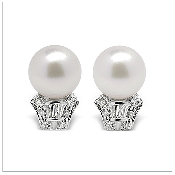 Casta a Japanese Akoya Cultured Pearl Earring