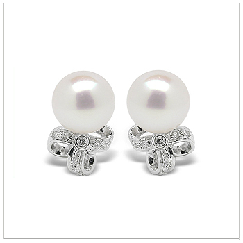 Zosima a Japanese Akoya Cultured Pearl Earrings