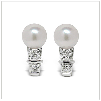 Olympia a Japanese Akoya Cultured Pearl Earrings