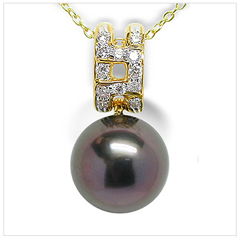 Phila a Black Tahitian Cultured Pearl Pendant