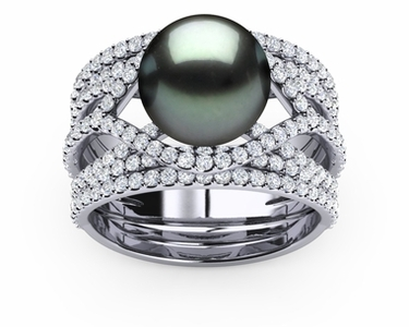 Tahitian Pearl Deluxe Rainbow Ring