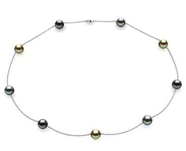 Tahitian Pearl Tin Cup Necklaces