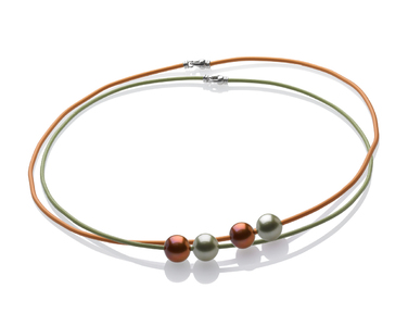 Double Pearl and Cord Set