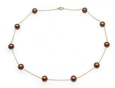 Mocha Tin Cup Necklace