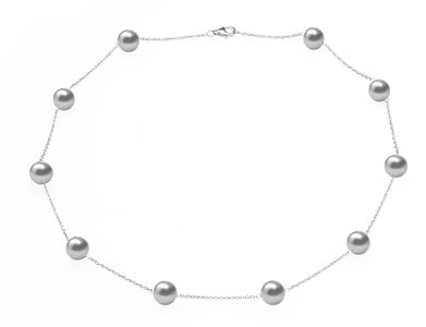 Grey Freshwater Tin Cup Necklace