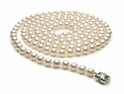 52 Inch 7.5mm x 8mm Freshwater Cultured Pearl Necklace