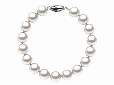 8.5 x 9mm White Freshwater Pearl Bracelet