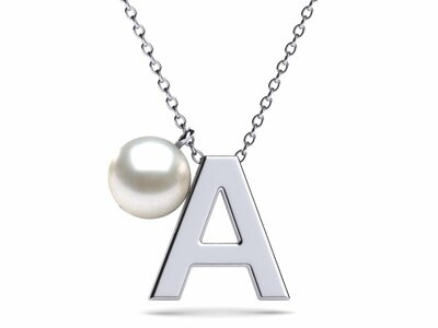 Alphabet Pearl Necklace Pendant