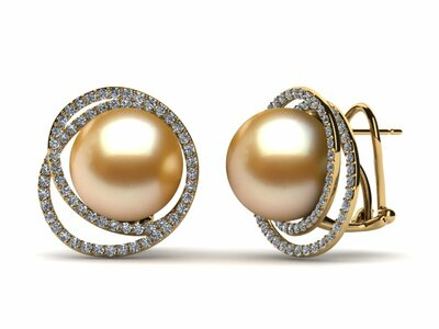 Golden South Sea Pearl Earrings