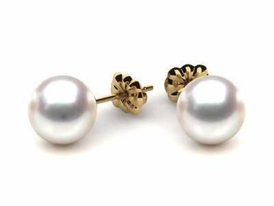 Pearl Earring 8mm AAA Quality Japanese Akoya Cultured Pearl Stud Earrings