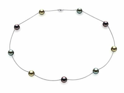 Tahitian Multicolor Tin Cup Necklace