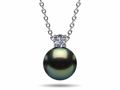Tahitian Pearl & Diamond Timeless Pendant