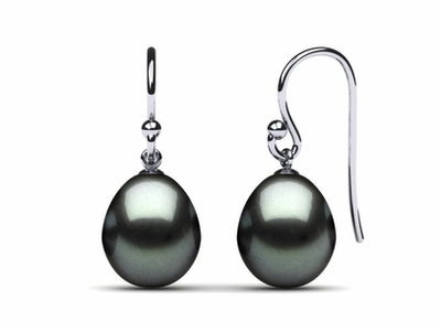 Tahitian Pearl French Wire Drop Earring