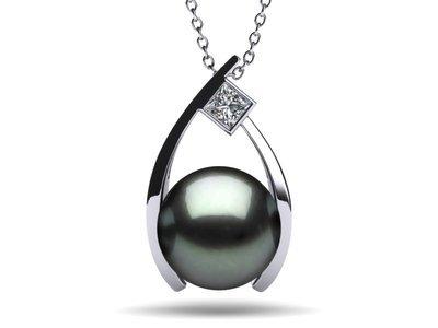 Tahitian Pearl Grand Wish Pendant .20 carats t.d.w.