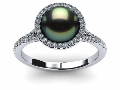 Tahitian Pearl Unity Ring