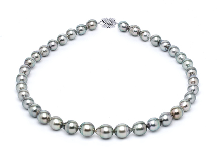 8 x 10mm Grey Baroque Tahitian Pearl Necklace