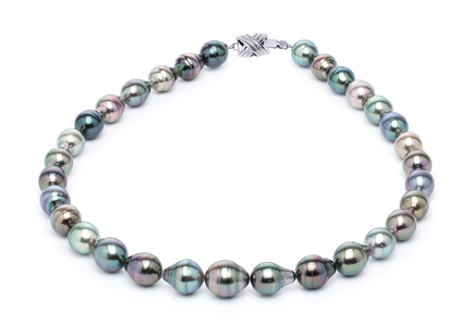 10 x 12mm Tahitian Pearl Necklace Serial Number | s10-multi-color-b27