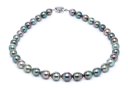 9 x 11mm Tahitian Pearl Necklace Serial Number | s10-multi-color-b19