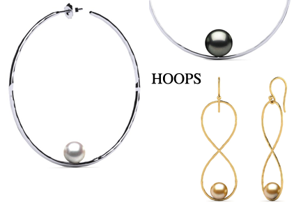 American Pearl Hoop Collection