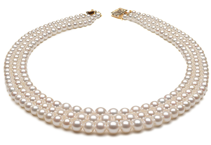 Triple Graduated Pearl Necklace