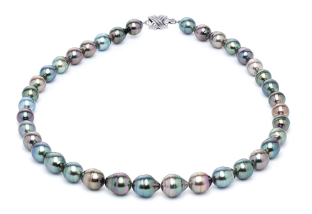 8 x 10mm Tahitian Pearl Necklace Serial Number | s10-multi-color-b18
