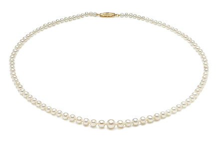 AAA 3.5 x 9.5mm Graduated Pearl Necklace