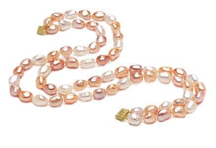 AAA  8 x 9mm Multicolor Baroque Pearl Necklace