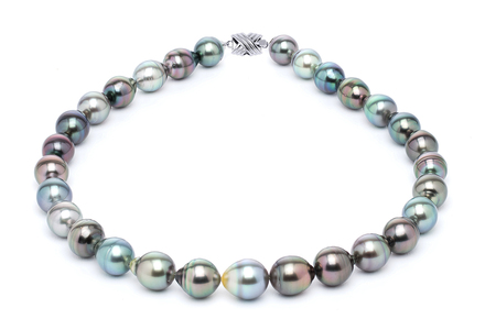 11 x 13mm Tahitian Pearl Necklace Serial Number | s10-multi-color-b30